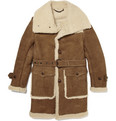 Burberry Prorsum - Leather and Shearling Coat