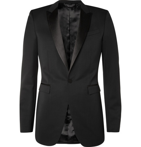 Burberry Prorsum Tailored Tuxedo Suit Jacket