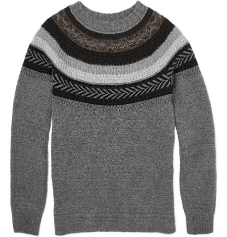 Burberry Prorsum Fair Isle Knit Sweater