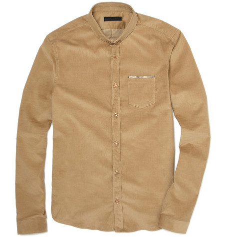 Burberry Prorsum Fitted Corduroy Shirt