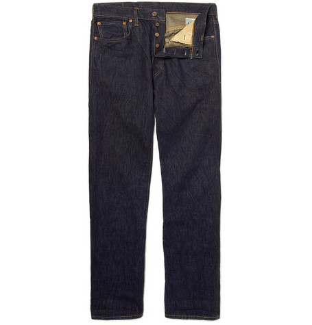 Levi's Vintage Clothing 1947 501 Rinsed Straight-Leg Selvedge Jeans