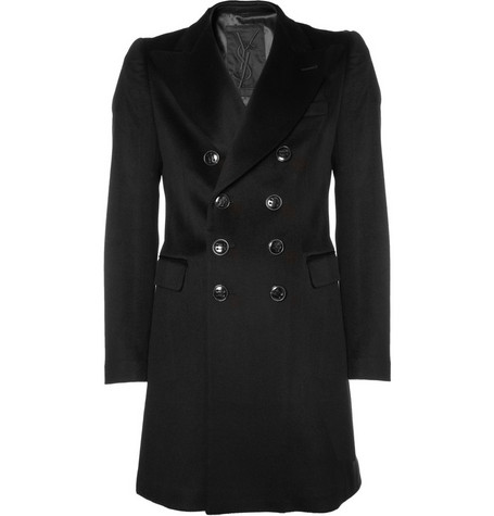 Yves Saint Laurent Double-Breasted Wool Coat