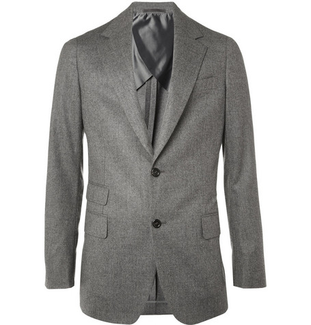 Yves Saint Laurent Slim Fit Unstructured Wool Jacket