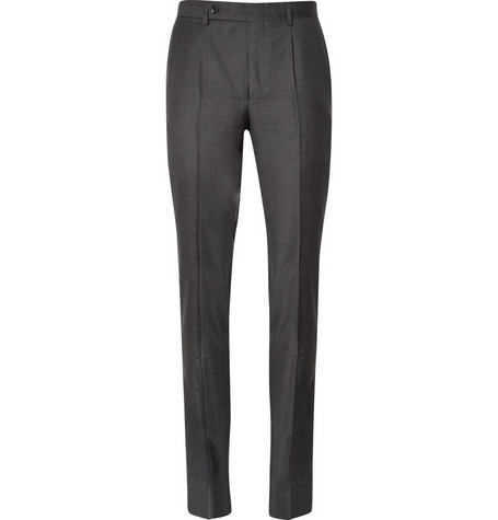 Yves Saint Laurent Pleated Wool Trousers