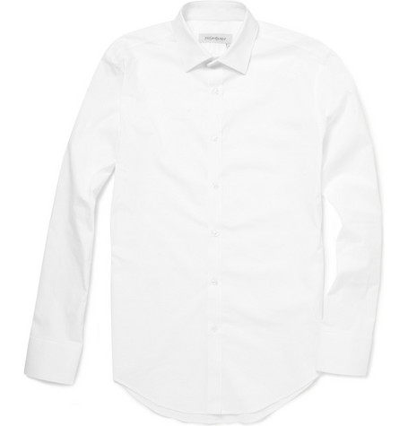 Yves Saint Laurent Regular Fit Cotton-Blend Shirt