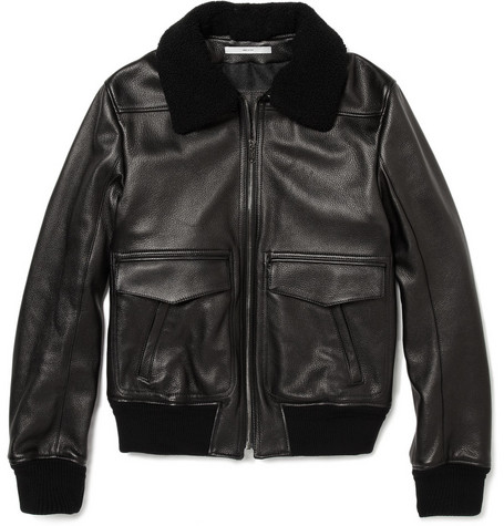 Yves Saint Laurent Leather Bomber Jacket