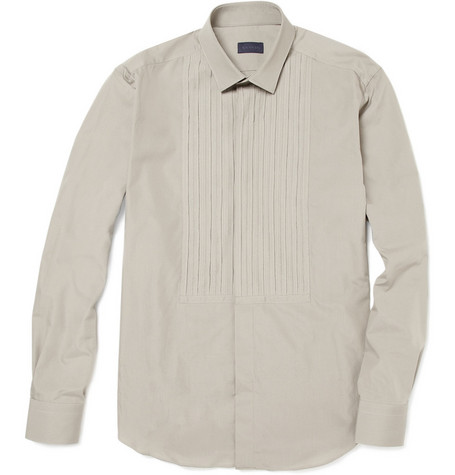 Lanvin Pleated Bib Front Shirt