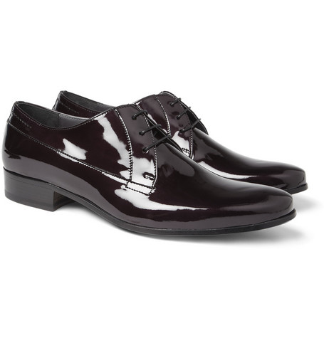 Lanvin Patent Leather Derby Shoes
