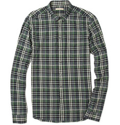 Burberry Brit Niall Crinkled Plaid Shirt