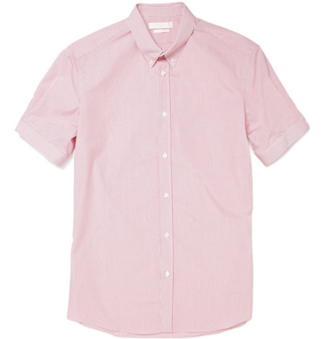 Alexander McQueen Short-Sleeved Check Shirt