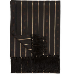 Alexander McQueen Gold Stripe Silk Evening Scarf