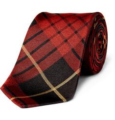 Alexander McQueen Plaid Silk Tie