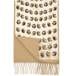 Alexander McQueen Double Sided Skull Print Scarf