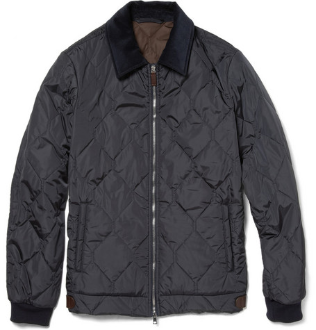 Gucci Quilted Jacket With Corduroy Collar