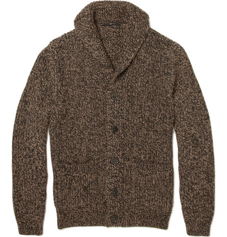 Gucci Chunky Knit Wool Blend Cardigan