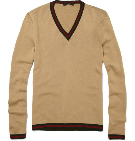 Gucci Web-Trim Sweater