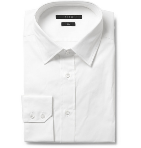 Gucci Slim Fit Cotton Blend Shirt