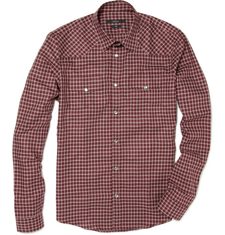 Gucci Plaid Shirt with Chest Pockets
