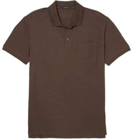 Gucci Cotton-Blend Polo Shirt