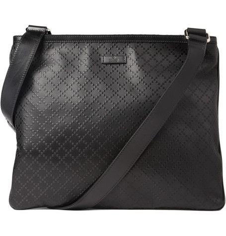Gucci Small Embossed Leather Messenger Bag