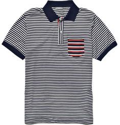 Sunspel Salvedge Stripe Polo Shirt