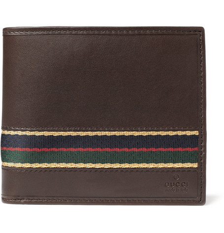 Gucci Regimental Striped Leather Wallet