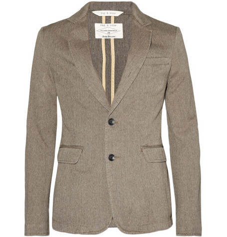 Rag & bone Phillips Two Button Herringbone Blazer