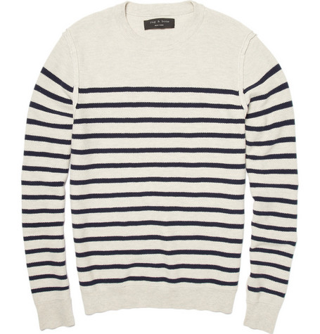 Rag & bone Cotton Blend Striped Sweater