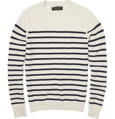 Rag & bone Cotton Blend Striped Sweater