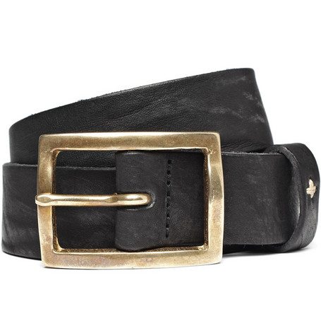Rag & bone Worn-Effect Leather Belt