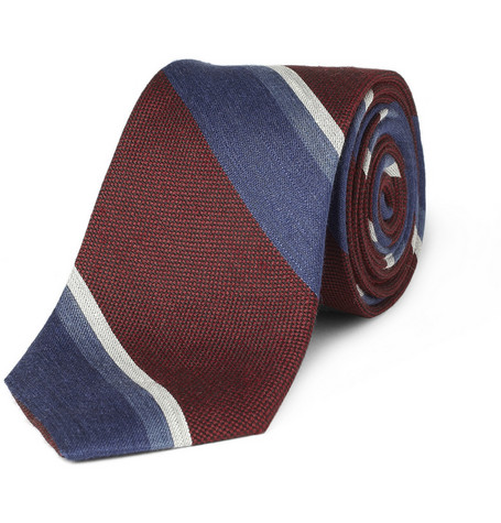 Rag & bone Striped Linen-Blend Tie