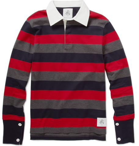 Black Fleece Striped Cotton Rugby Shirt