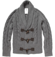 Black Fleece Horn Toggle Cardigan