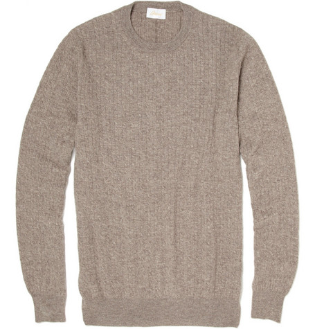 Brioni Cashmere Cable Knit Sweater