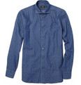 Brioni Washed Cotton Chambray Shirt