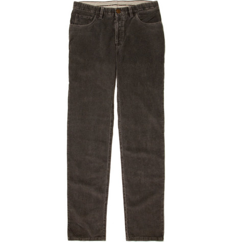 Brioni Straight Fit Corduroy Trousers