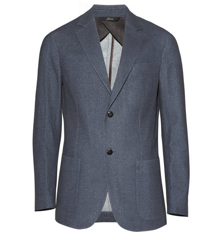 Brioni Unstructured Two Button Wool Blazer