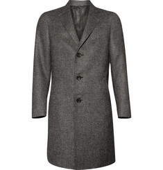 Canali Wool-Blend Checked Overcoat