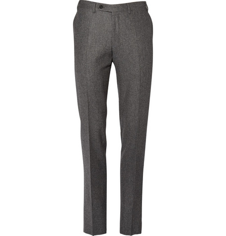 Canali Wool Flannel Trousers