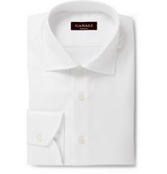 Canali Herringbone Cotton Shirt