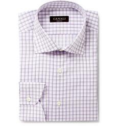Canali Check Cotton Shirt