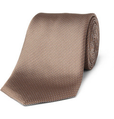 Canali Small Dotted Silk Tie