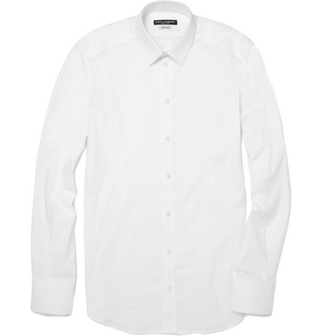 Dolce & Gabbana Gold Fit Stretch Cotton Shirt