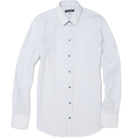 Dolce & Gabbana Cotton Polka Dot Shirt