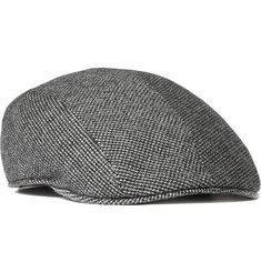Dolce & Gabbana Houndstooth Check Wool Flat Cap