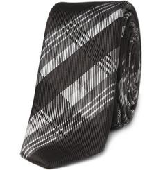 Dolce & Gabbana Skinny Plaid Silk Tie