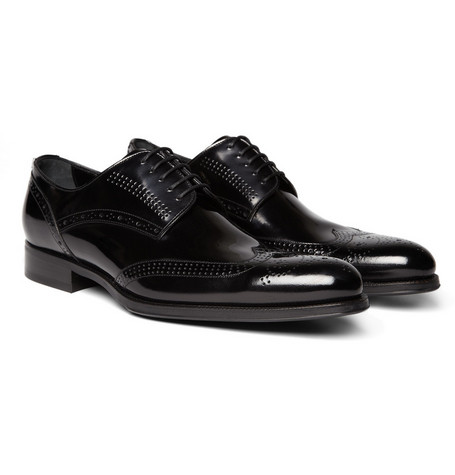 Dolce & Gabbana Patent Leather Wingtip Brogues