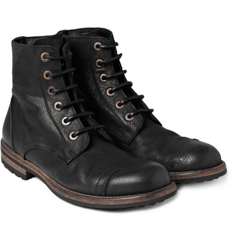 Dolce & Gabbana Vintage-Effect Leather Boots