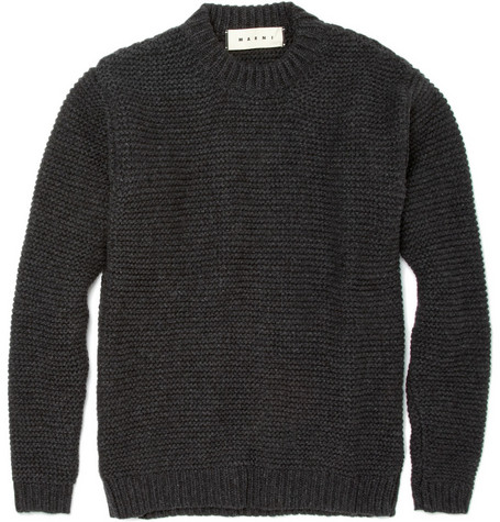 Marni Knitted Wool-Blend Sweater