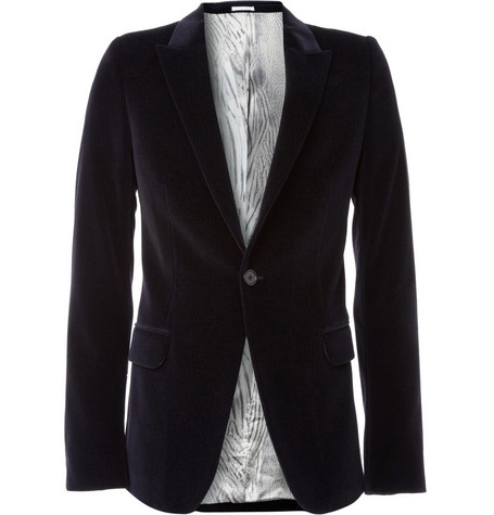 Alexander McQueen Single Button Velvet Jacket